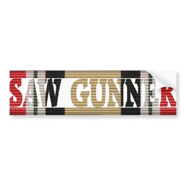 Iraqi Freedom CMR Saw Gunner Bumper Sticker