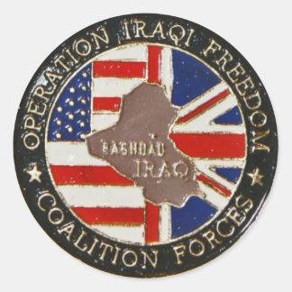 Iraqi Freedom Coin Sticker