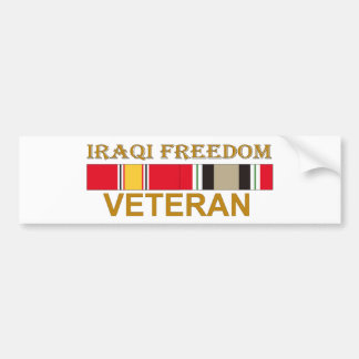 Iraqi Freedom Veteran - Bumper Sticker