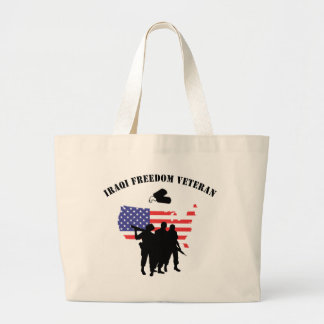 Iraqi Freedom Veteran Large Tote Bag