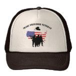 Iraqi Freedom Veteran T-Shirt Hats