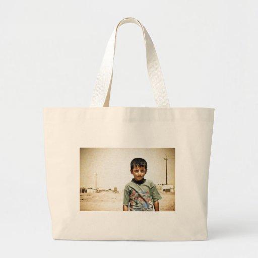 Iraqi kurdish boy Dohuk Iraqi Kurdistan lrg Jumbo Tote Bag