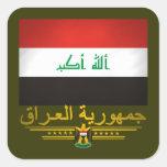 """""""Iraqi Pride 2"""" Square Stickers"""