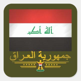 """""""Iraqi Pride 2"""" Square Sticker"""