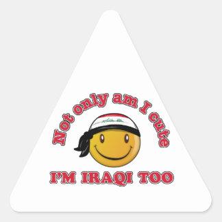 Iraqi smiley flag designs triangle sticker