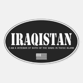 Iraqistan Pegatina Ovalada