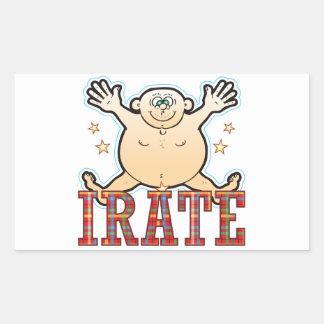 Irate Fat Man Rectangular Sticker