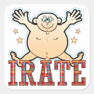 Irate Fat Man Square Sticker