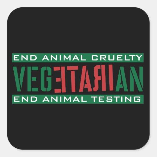 Irate Vegetarian Square Sticker