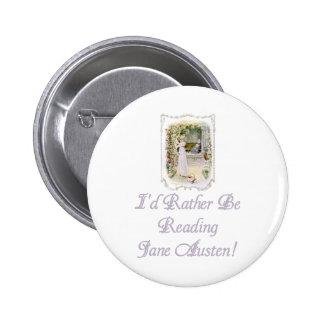 ¡IRBR Jane Austen! Botones, 2 formas, 6 tamaños Pin Redondo De 2 Pulgadas