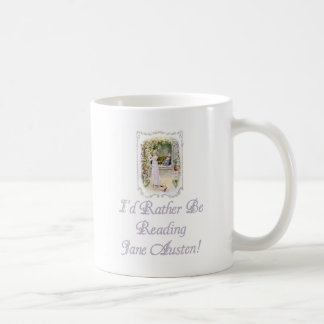 IRBR Jane Austen! Classic White Mug, 2 sizes Coffee Mug
