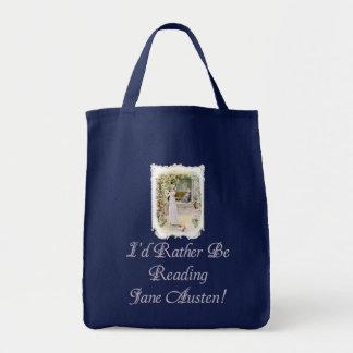IRBR Jane Austen! Dark Grocery Tote