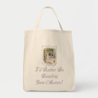 ¡IRBR Jane Austen! GroceryTote orgánico Bolsa Tela Para La Compra