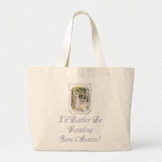 ¡IRBR Jane Austen! Tote enorme natural Bolsa Tela Grande