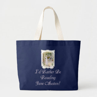 ¡IRBR Jane Austen! Tote enorme oscuro, 3 colores Bolsa Tela Grande