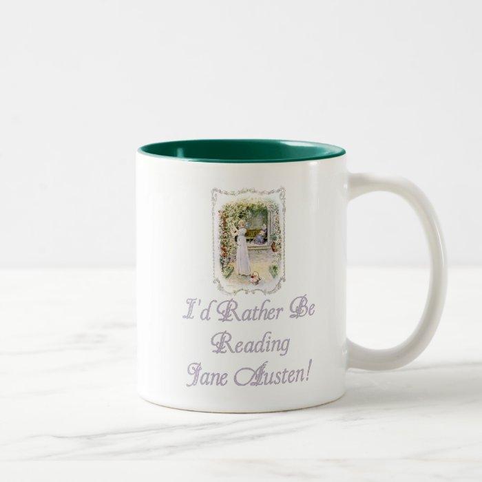IRBR Jane Austen! Two-Tone Mug, 6 colors, 2 sizes Two-Tone Coffee Mug