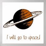 Iré al espacio - poster