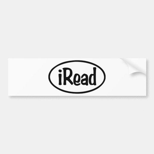 iRead Bumper Sticker