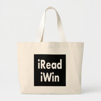 iRead iWin - Great reward for kids Large Tote Bag