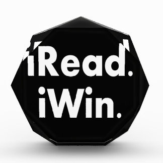 iRead. iWin.  School incentive Acrylic Award