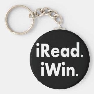 iRead. iWin.  School incentive Key Chain