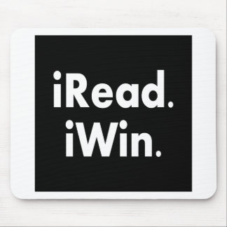 iRead. iWin.  School incentive Mouse Pad