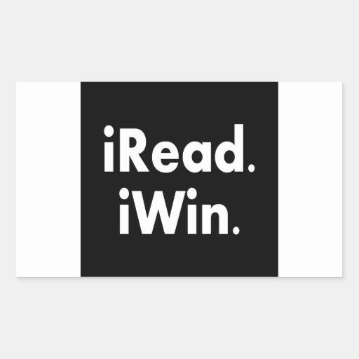 iRead. iWin.  School incentive Rectangular Sticker
