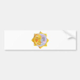 Iredescent SUN and Moon Bumper Sticker
