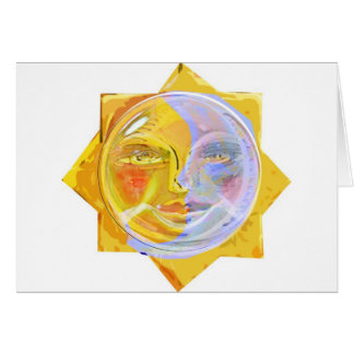 Iredescent SUN and Moon Greeting Card