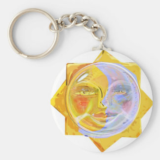 Iredescent SUN and Moon Keychain