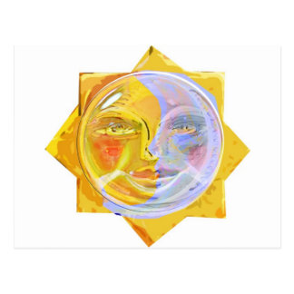 Iredescent SUN and Moon Postcard