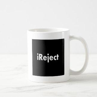 ireject classic white coffee mug