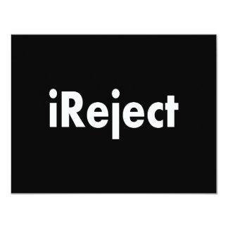 "ireject 4.25"" x 5.5"" invitation card"