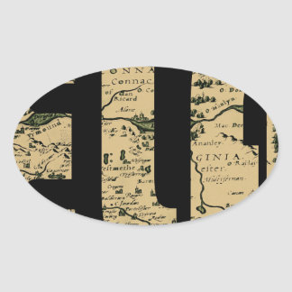 ireland1598b oval sticker