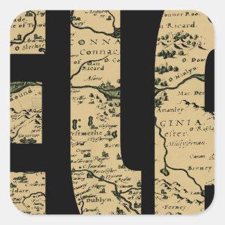 ireland1598b square sticker
