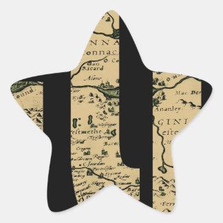 ireland1598b star sticker
