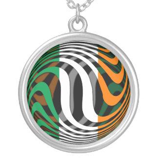 Ireland #1 round pendant necklace
