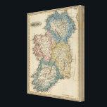 "Ireland 9 canvas print<br><div class=""desc"">Ireland. By Lucas,  Fielding Jr. (182). Published by &#39;&#39;Baltimore: Fielding Lucas Jr&quot;.</div>"