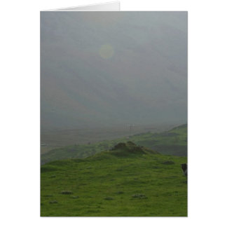 Ireland A Sunrise In Ireland In The Inneh Vally Greeting Card