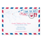 Ireland Air Mail Wedding Save The Date Card