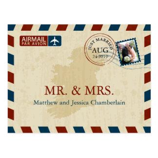 Ireland Airmail | Wedding Thank You Postcard