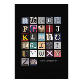ireland alphabet photo print