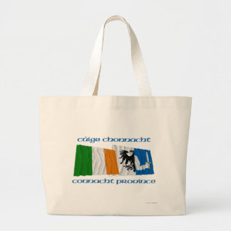 Ireland and Connacht Province Flags Tote Bag