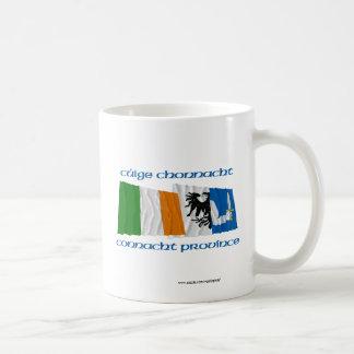Ireland and Connacht Province Flags Coffee Mug