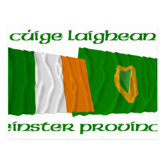 Ireland and Leinster Province Flags Postcard