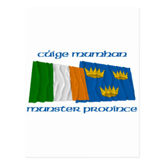 Ireland and Munster Province Flags Postcard
