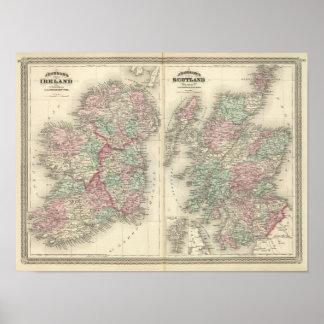 Ireland and Scotland Poster