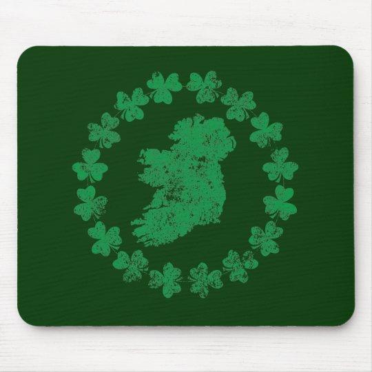 Ireland and Shamrocks Mouse Pad