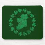 Ireland and Shamrocks Mouse Pads