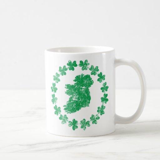 Ireland and Shamrocks Mugs